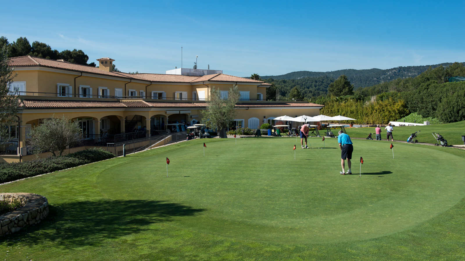 Son Quint golf course with view of bay of Palma at Arabella Golf