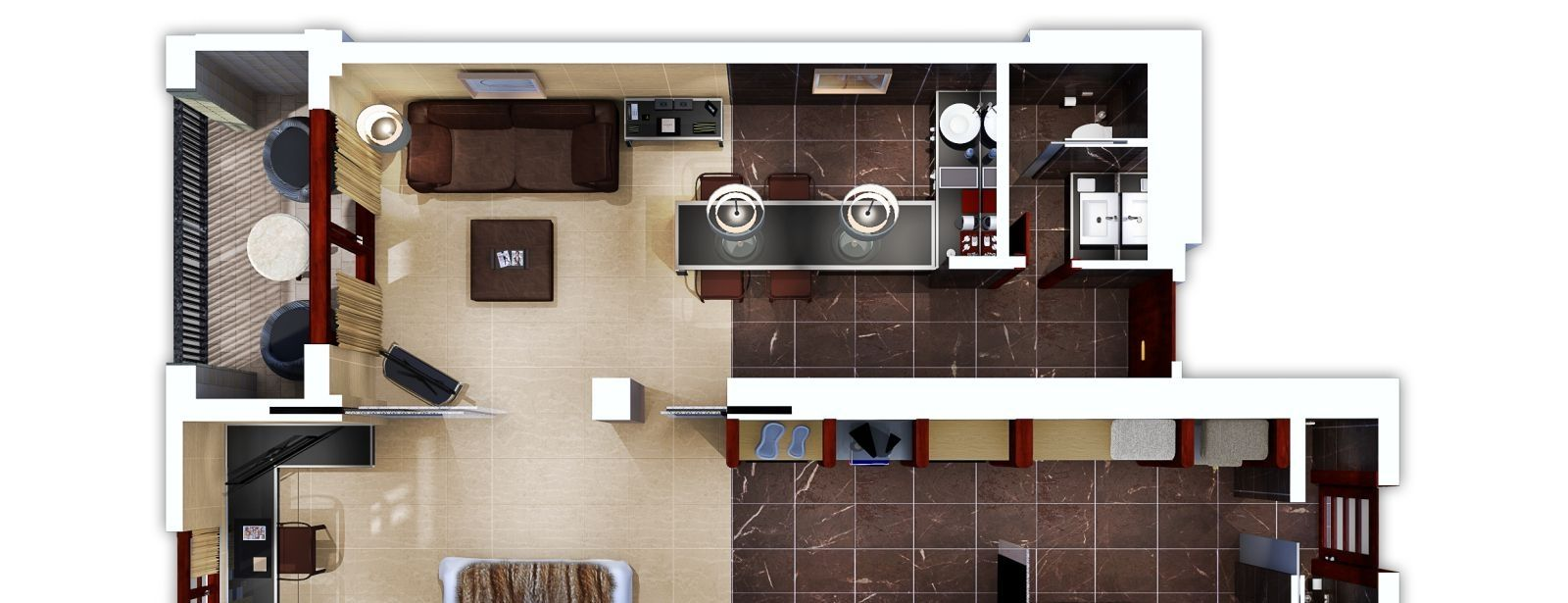3D Floorplan of the LOEWE Suite