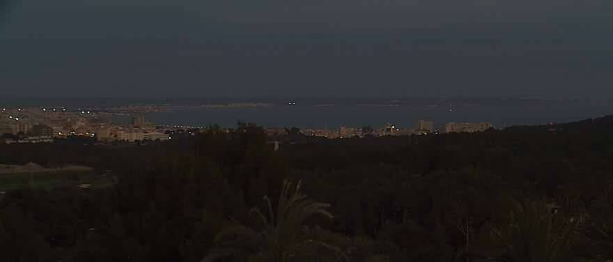 The bay of Palma at night.